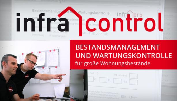 infra control: Bestandsmanagement und Wartkungskontrolle für große Wohnungsbestände